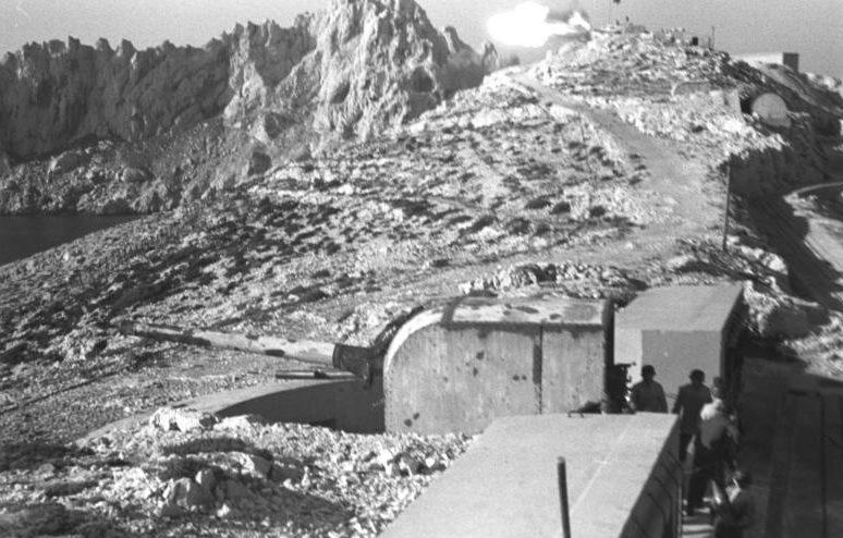 Береговая батарея. 1942 г.