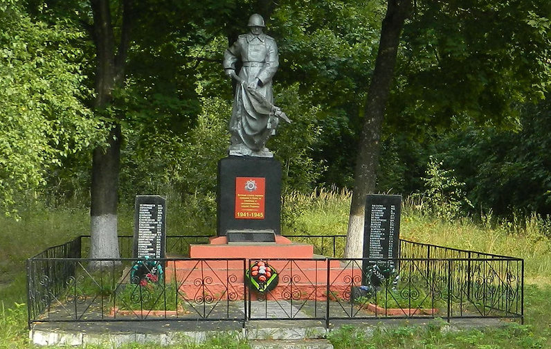 д. Бартоломеевка Ветковского р-на. Памятник воинам-освободителям, погибшим во время войны.