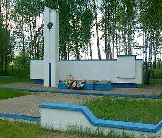 д. Камень Мозырского р-на. Братская могила советских воинов.