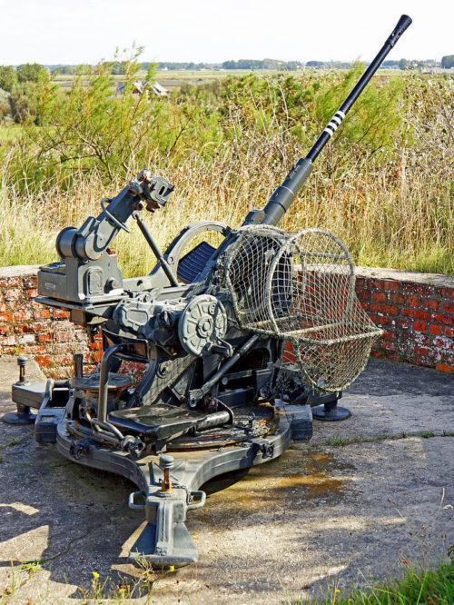 Позиция 20-мм зенитного орудия.