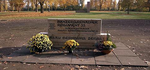 г. Дессау. Памятник, погибшим немецким танкистам.