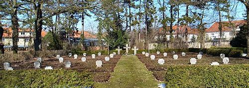 г. Дессау-Рослау. Немецкие военные могилы, солдат, погибших в годы Второй мировой войны.