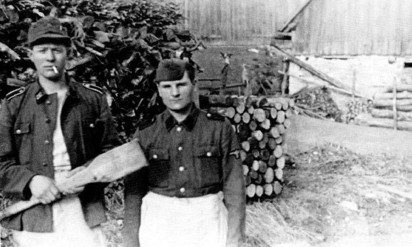 Солдаты дивизии в тренировочном лагере. Январь 1945 г.