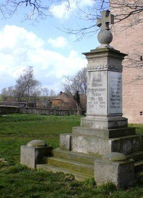 д. Додендорф. Памятник землякам, погибшим в годы обеих мировых войн.