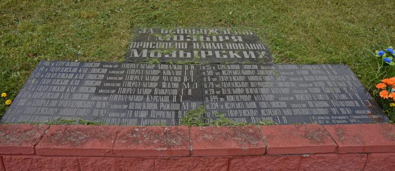Фрагменты братской могилы.