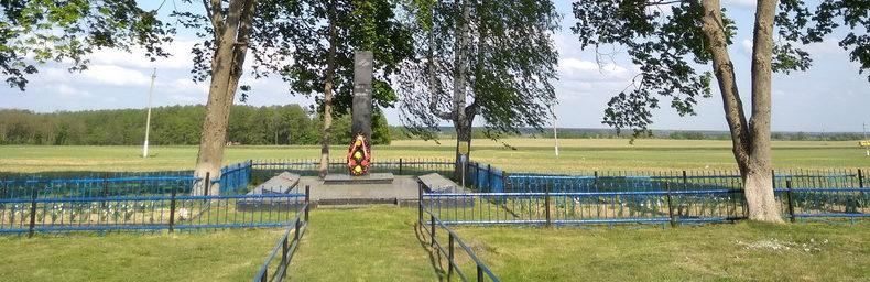 д. Шерстин Ветковского р-на. Братская могила, в которой захоронены 588 воинов 307-й стрелковой дивизии.