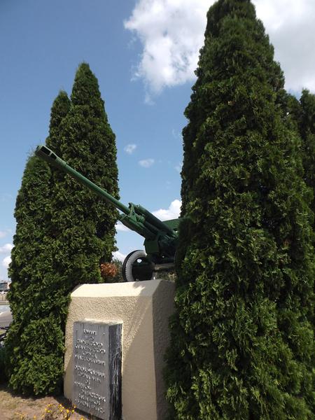 г. Лида. Памятник-пушка воинам 3 гвардейского кавалерийского корпуса, был установлен в 1967 году.