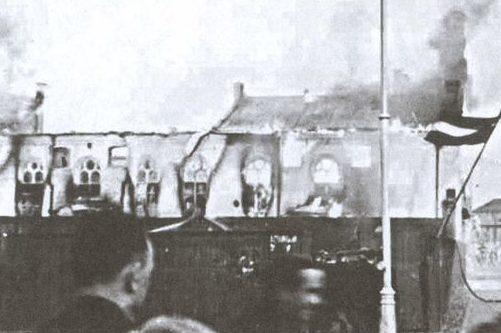 Горящая большая хоральная синагога. 4 июля 1941 г.