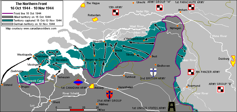 План захвата укреплений Шельда.
