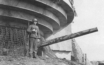 150-мм орудие батарея «Нордерней» крепости «Вальхерен».
