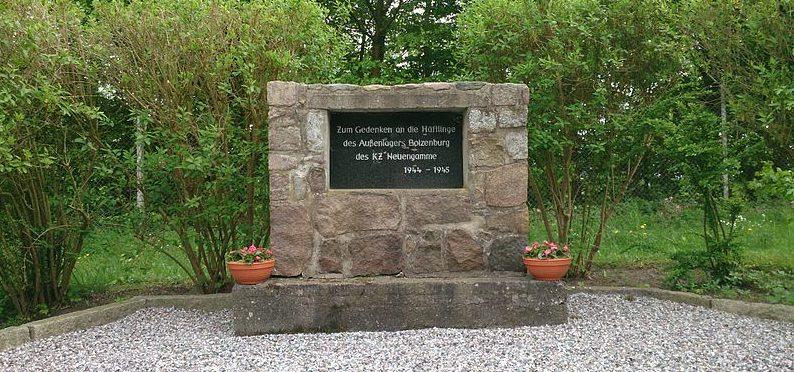 г. Бойценбург. Памятный знак на месте концлагеря «Бойзенбург».