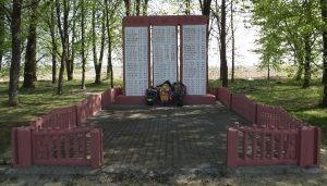 д. Будки Наровлянского р-на. Памятник погибшим землякам.
