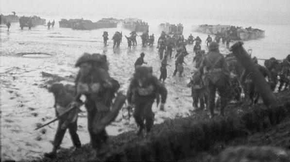 Высадка десанта на остров.
