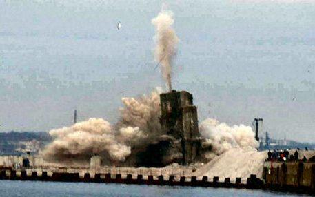 Взрыв остатков бункера 23 ноября 2000 года.