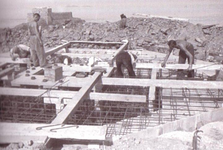 Строительство бункера в Сен-Мало.