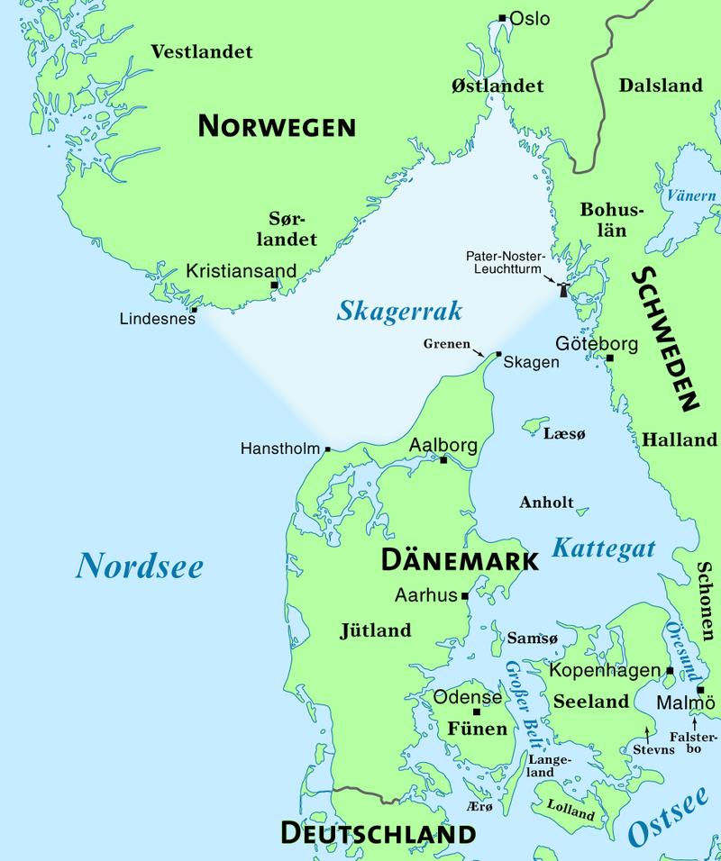 Карта с расположением крепостей «Ханстхольм» и «Кристиансанд».
