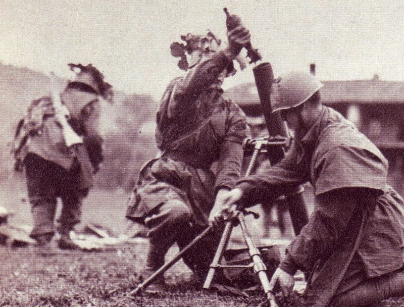 Минометчики дивизии на учениях. 1944 г.
