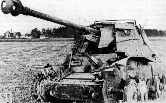 Подбитая САУ повстанцев. Сентябрь 1944 г.