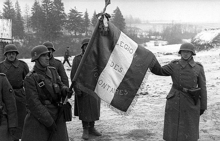 Солдаты легиона на Восточном фронте. Ноябрь 1941 г.