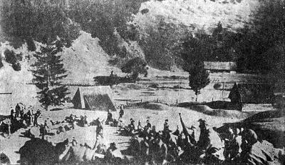 Партизанский лагерь в горах. Сентябрь 1944 г.