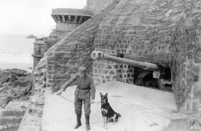 Противотанковое орудие в старом форте.