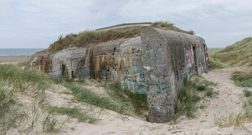 Вспомогательные бункеры крепости.