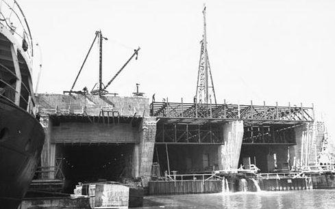 Строительство бункера. Сентябрь 1941 года.