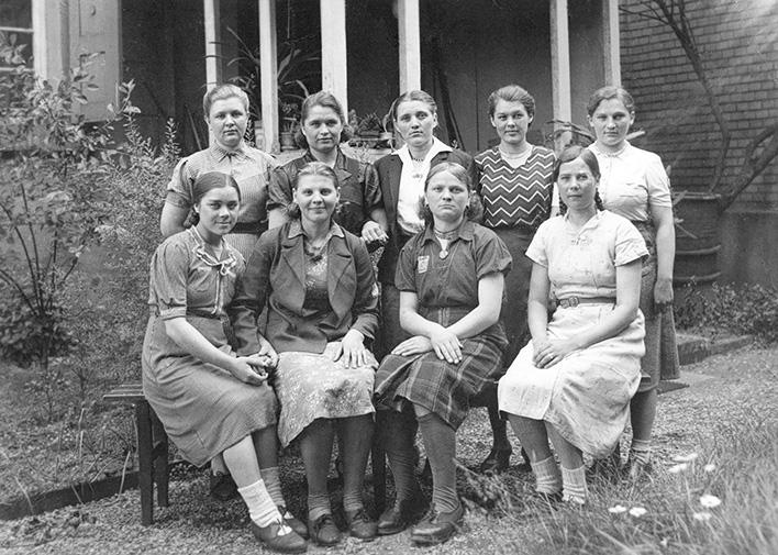 Восточные рабочие в компании «Hagenbucher». 1944 г.
