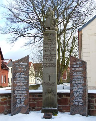 г. Халденслебен р-н Сатуэлл. Памятник землякам, погибшим в годы обеих мировых войн.