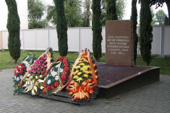 Братская могила воинов, погибших при освобождении города.