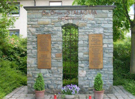 Памятники на территории концлагеря.