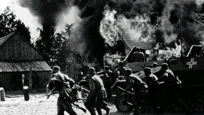 Каратели в словацкой деревне. Октябрь 1944 г.