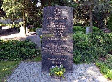 г. Зелов. Памятник, установленный на братской могиле, в которой похоронено 20 немецких солдат.