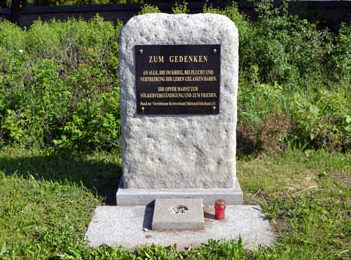 г. Зелов. Памятник, погибшим немецким беженцам.