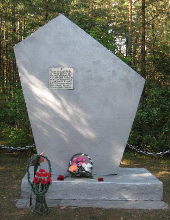 д. Новинка Мостовского р-на. Памятник в честь воинов 323-й стрелковой дивизии освободившей г. Мосты.
