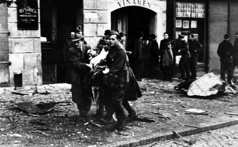 Братислава после бомбардировки союзников. 13 октября 1944 г.
