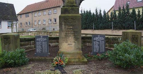 д. Эггенштедт. Памятник землякам, погибшим в годы обеих мировых войн.