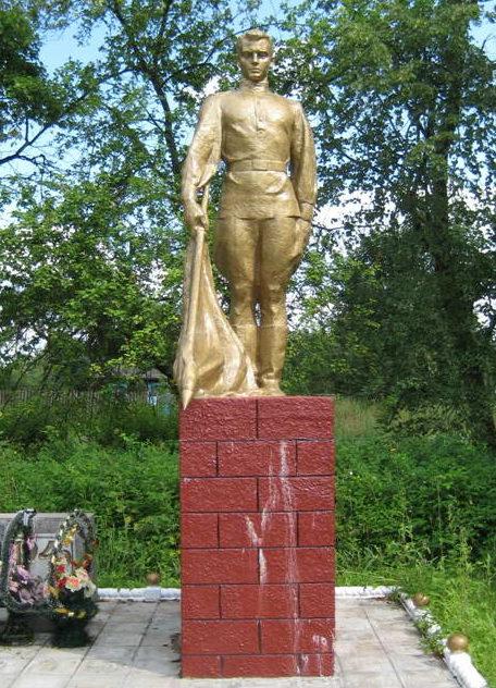 д. Пески Мостовского р-на. Памятник 20 землякам, погибшим в годы войны.