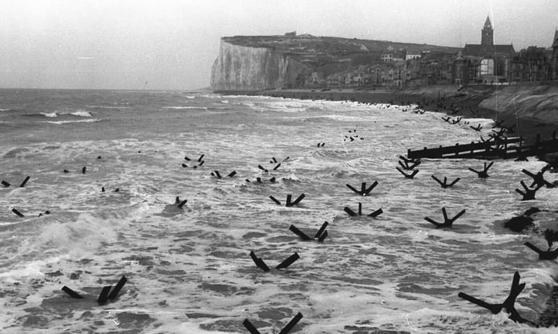 Páncéltörő akadályok Norvégiában.  1944 g.