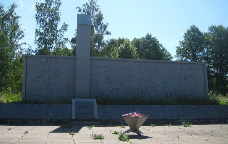 д. Шимки Мостовского р-на. Мемориальный комплекс советским воинам, партизанам и жертвам фашизма.