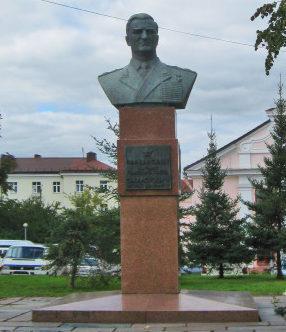 г. Гродно. Бюст Маршала Советского Союза В.Д.Соколовского.