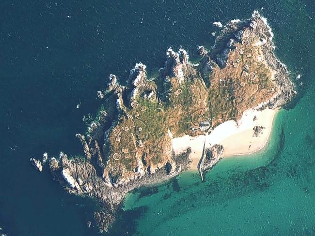 Остров Ille Cézembre – вид сверху.