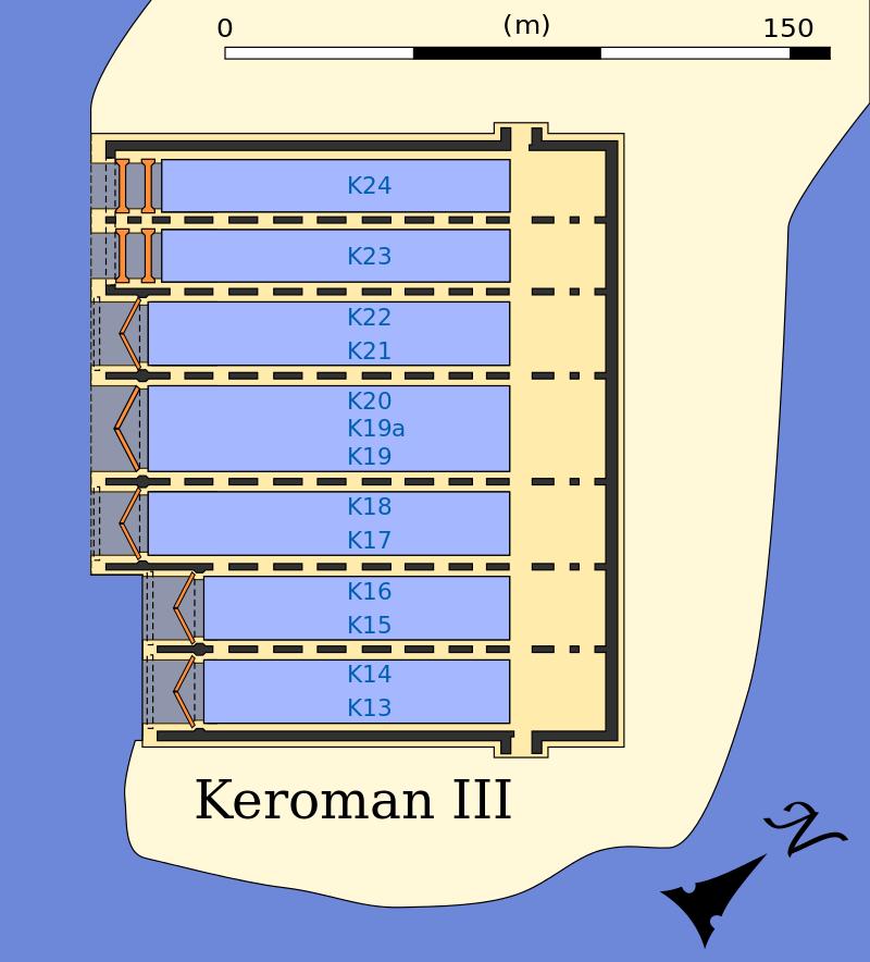 План-схема бункера «Keroman III».