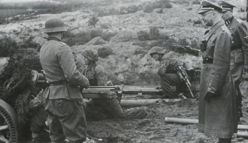 Рейхсфюрер Гиммлер инспектирует 14-ю дивизию.