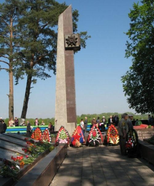п. Чёнки Гомельского р-на. Памятник, установленный в 1959 году на братской могиле, в которой похоронен 1 761 воин 194-й стрелковой дивизии 48-й армии, погибших 11 ноября 1943 г. в боях против немецко-фашистских захватчиков при форсировании реки Сож.