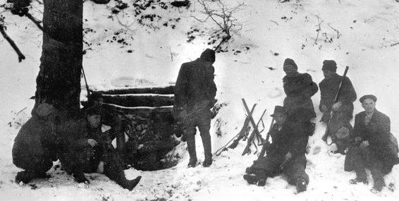Партизанский лагерь. Март 1945 г.