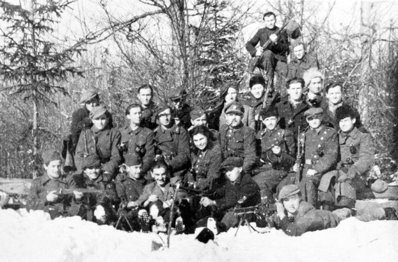 Партизанская группа «Втячник». Март 1945 г.