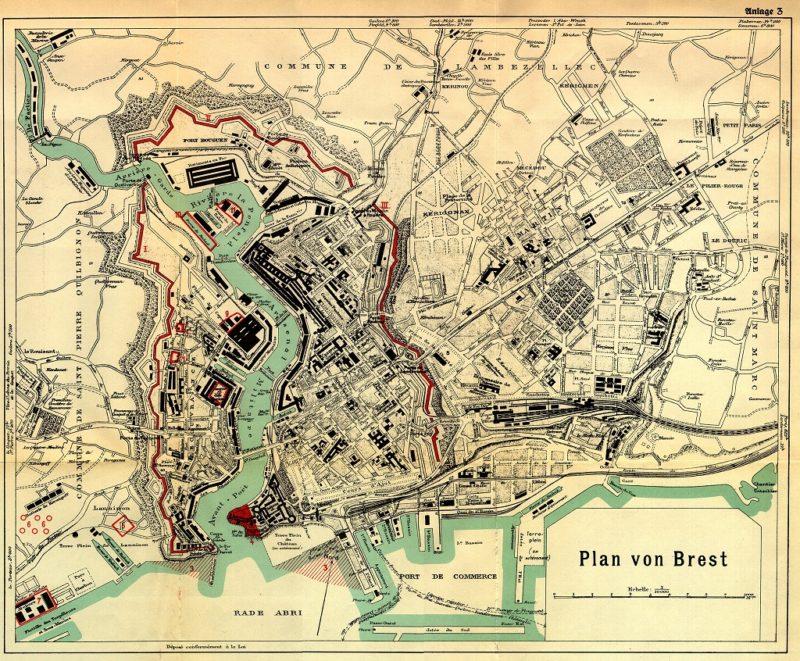 План крепости Брест по состоянию на 1935 год.