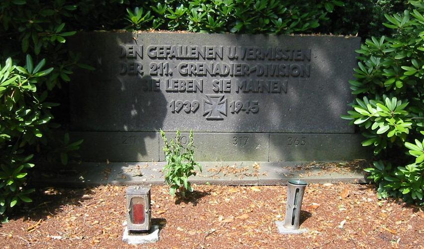 ст. Опладен. Памятник погибшим воинам 211-й гренадерской дивизии.