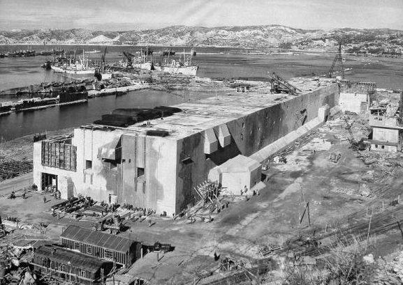 Строительство бункера в Марселе. 1943 г.